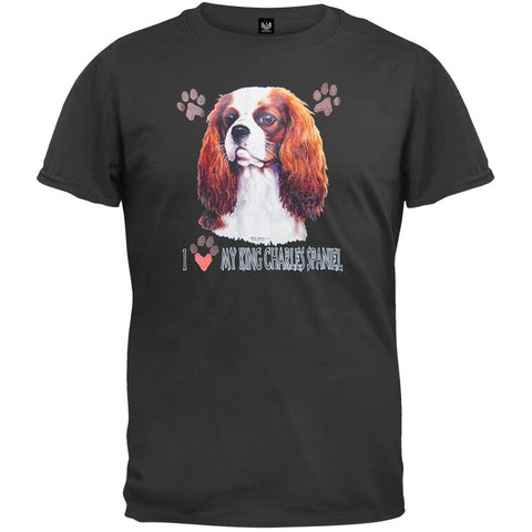 I Paw My King Charles Spaniel Black T-Shirt