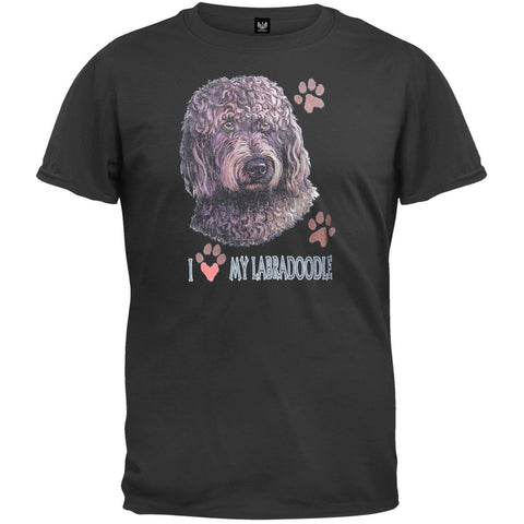 I Paw My Labradoodle Black T-Shirt