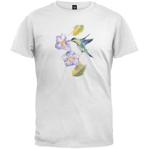 Hummingbird Garden White T-Shirt