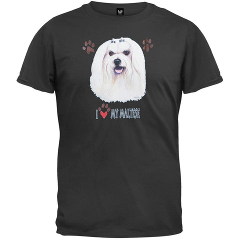 I Paw My Maltese Black T-Shirt