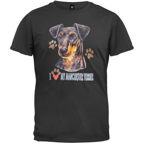 I Paw My Manchester Terrier Black T-Shirt