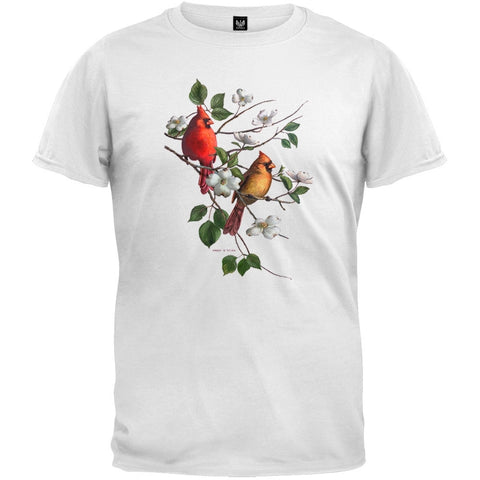 Cardinal in Dogwood White T-Shirt