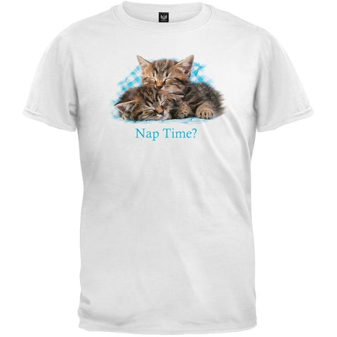 Kittens On Blue Gingham Youth T-Shirt