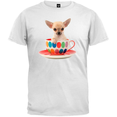 Chihuahua In Cup White T-Shirt