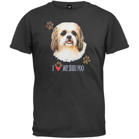 I Paw My Shih Poo Black T-Shirt