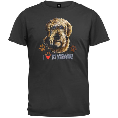 I Paw My Schnoodle Black T-Shirt