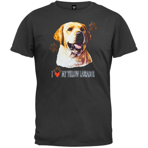 I Paw My Yellow Labrador Black T-Shirt