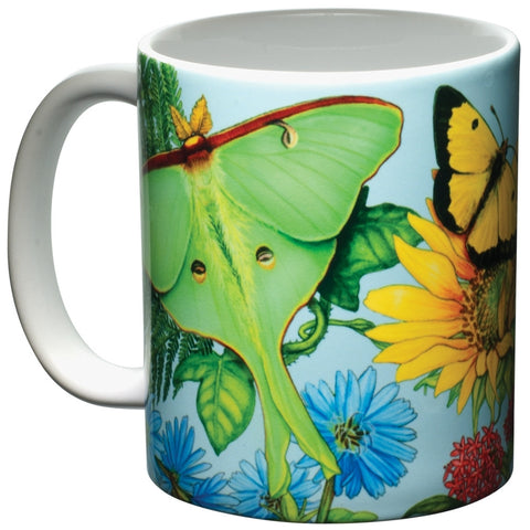 Butterfly Spectrum White Ceramic Mug