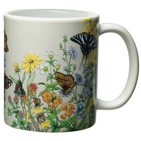 Butterflies of North America White Ceramic Mug