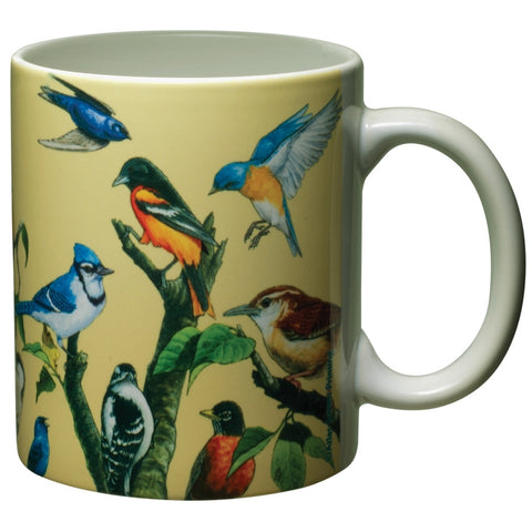 Garden Birds White Ceramic Mug