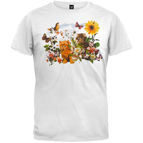 Garden Kittens White T-Shirt
