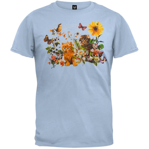 Garden Kittens Light Blue T-Shirt