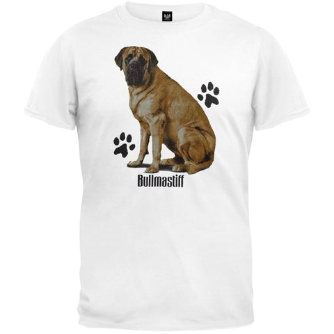 Bullmastiff Profile White T-Shirt