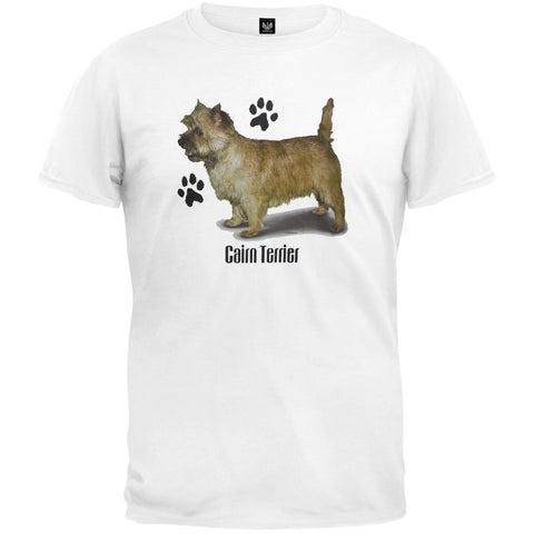 Cairn Terrier Profile White T-Shirt