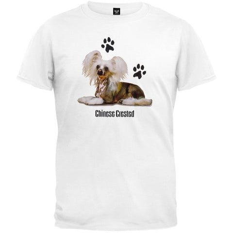 Chinese Crested Profile White T-Shirt