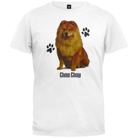 Chow Chow Profile White T-Shirt