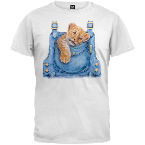Lion Cub Overall White T-Shirt