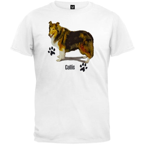 Collie Profile White T-Shirt
