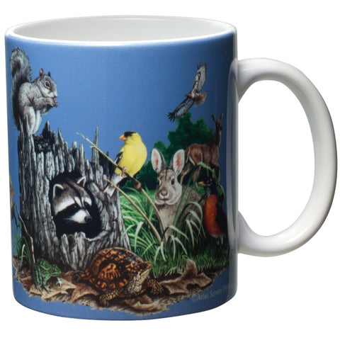 Backyard Buddies White Ceramic Mug