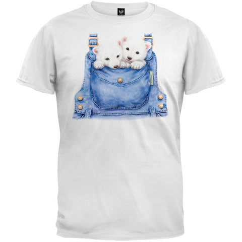 Overall Polar Bears White T-Shirt