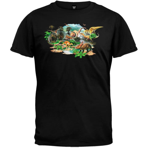Dino Land Black T-Shirt