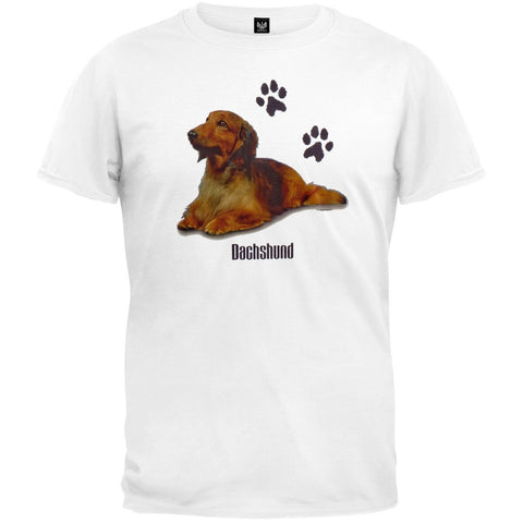 Dachshund Laying Profile White T-Shirt