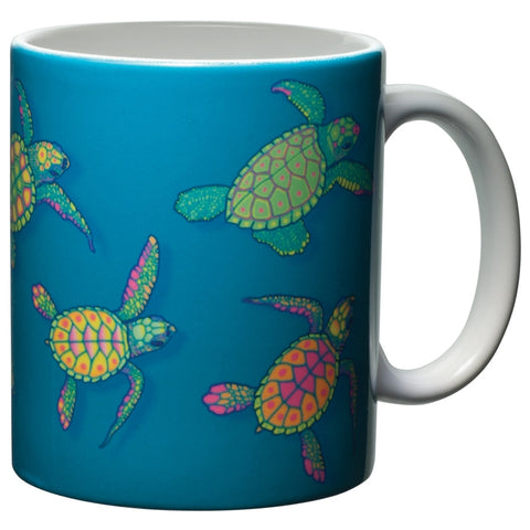 Sea Turtle Glow White Ceramic Mug
