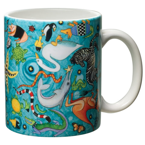 Circle of Life White Ceramic Mug