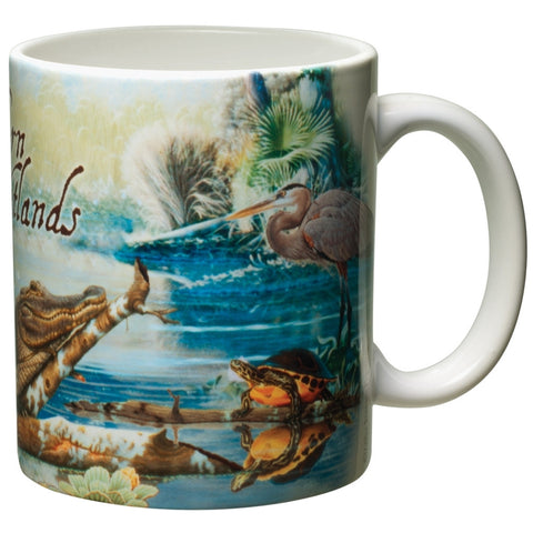 Southern Wetlands White Ceramic Mug