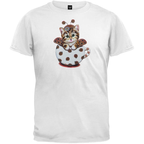 Cup Kitty Ladybug Youth T-Shirt
