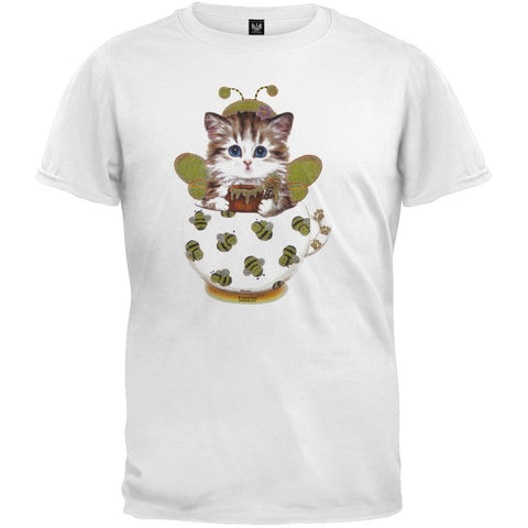 Cup Kitty Sunflower White T-Shirt