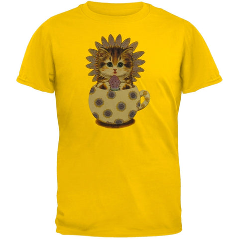 Cup Kitty Sunflower Youth T-Shirt