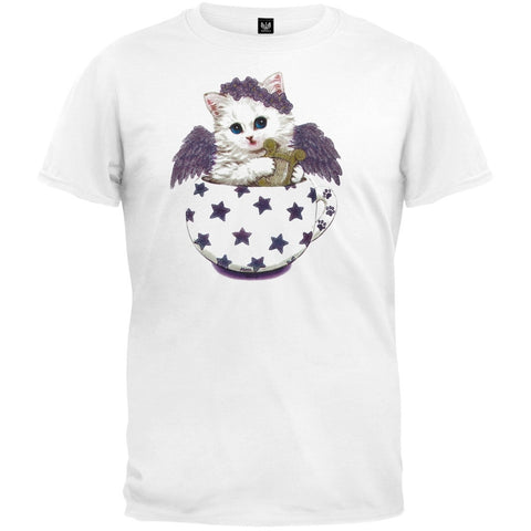 Cup Kitty Angel White T-Shirt