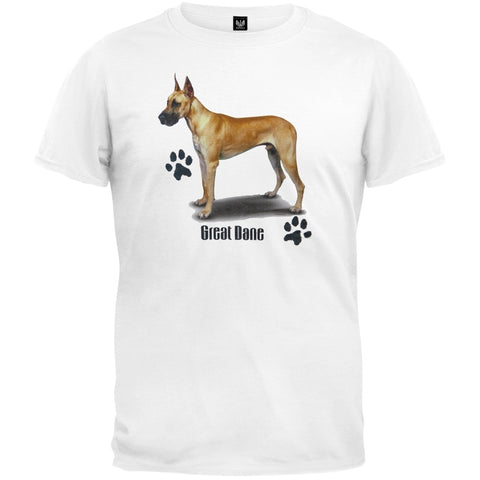 Fawn Great Dane Profile White T-Shirt