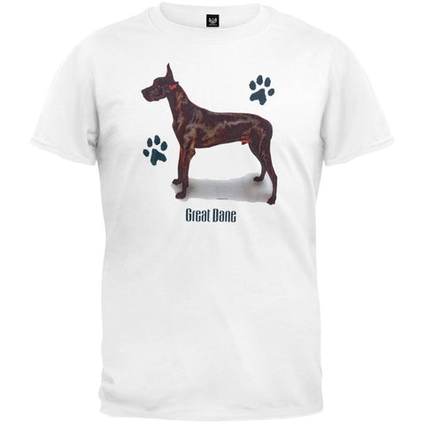 Black Great Dane Profile White T-Shirt