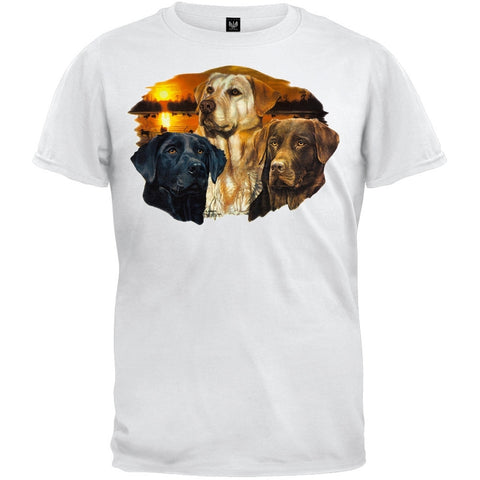 Labrador Retriever Sunset White T-Shirt