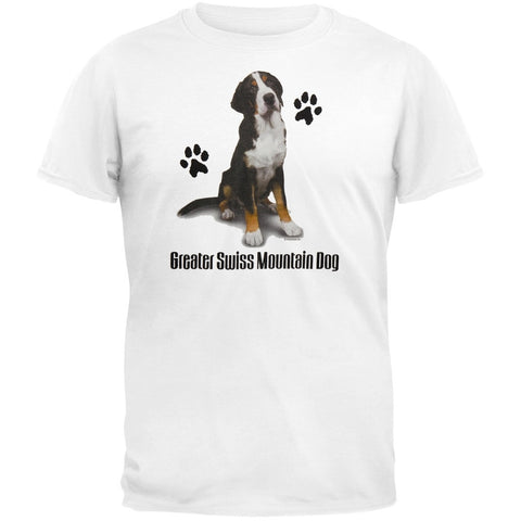 Greater Swiss Mountain Dog Profile White T-Shirt