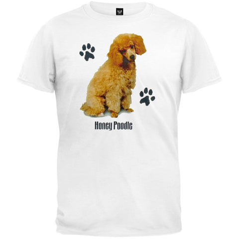 Honey Poodle Profile White T-Shirt