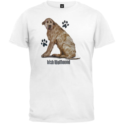 Irish Wolfhound Profile White T-Shirt