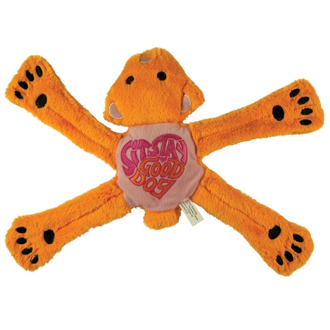 Hippie Pentas Bear Sit Stay Good Dog Toy