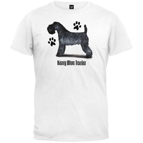 Kerry Blue Terrier Profile White T-Shirt