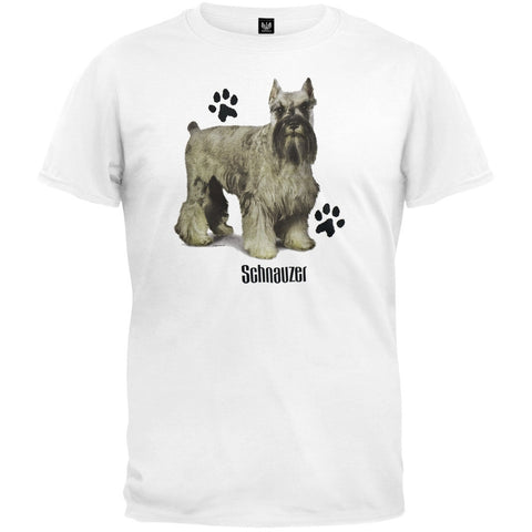 Schnauzer Profile White T-Shirt
