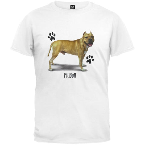 Pitbull Profile White T-Shirt