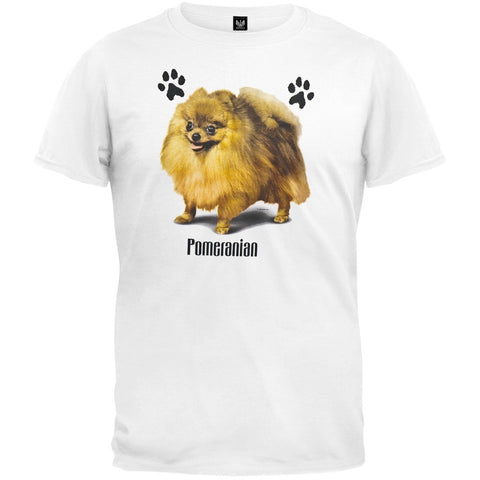 Pomeranian Profile White T-Shirt