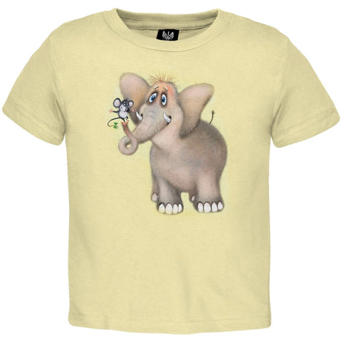 Fuzzy Elephant And Mouse Youth T-Shirt