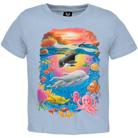 Orca And Dolphin Sea Youth T-Shirt