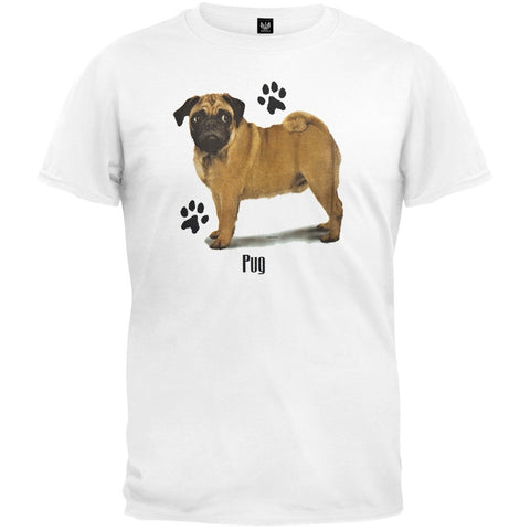 Pug Profile White T-Shirt