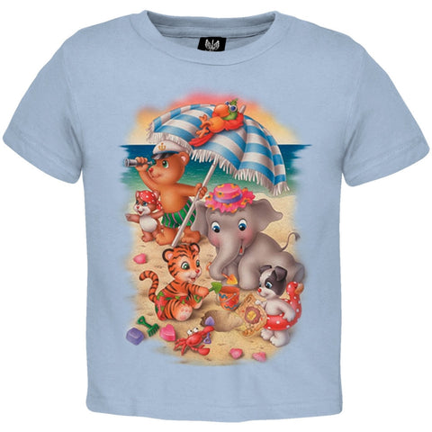 Beach Animals With Umbrella Youth T-Shirt