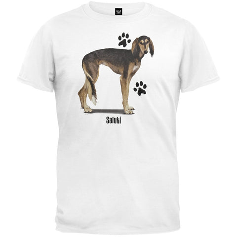 Saluki Profile White T-Shirt