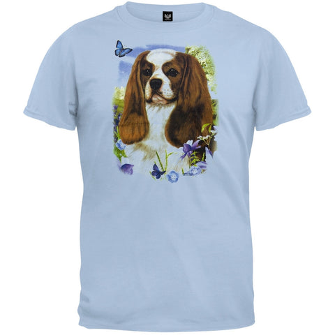 King Charles Spaniel Light Blue T-Shirt